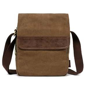 Amazon.com: Kaukko Casual Canvas Messenger Bag Shoulder ...
