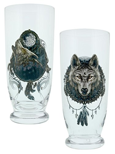 Spiral bicchieri Wolf Dreams - Set di 2