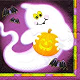 20 HALLOWEEN PARTY FRIENDLY GHOST NAPKINS