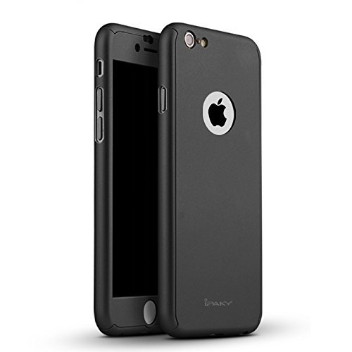 iPaky-AT14486-360-Protective-Body-Case-with-Tempered-Glass-for-Apple-iPhone-6-Plus-6S-PlusBlack-Not-Compatiable-with-iPhone-6-6S