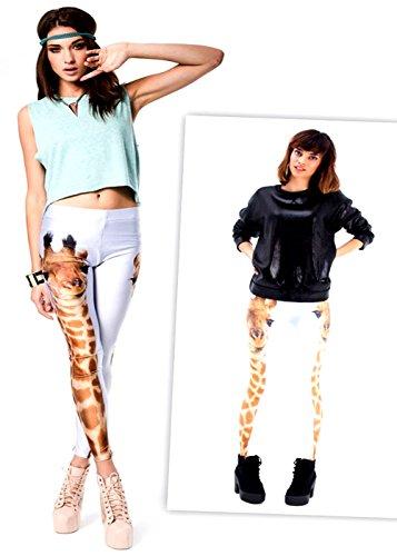 Giraffe 3D Digital Print Leggings Pants Graphic Printed Ladie'S Womens