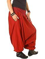 Vishes - alternative Bekleidung Haremshose aus Fleece Einheitsgröße/Lange Größe 40 - 48