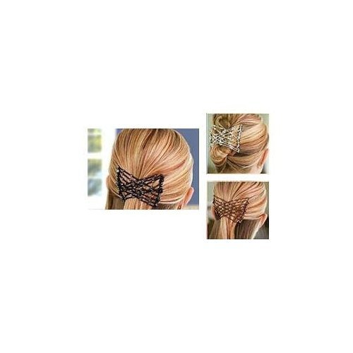 Magic Combs EZ Stretchy Beaded Hair Comb - Black
