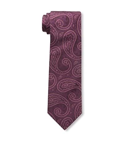 Isaia Men's Patterned Tie, Red