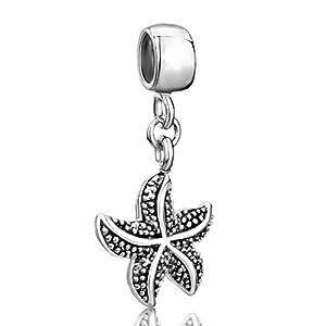 Starfish dangle european sale cheap bead fits pandora charm amp bracelet