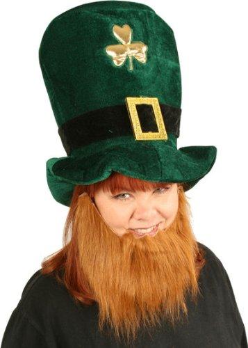 Plush Leprechaun Hat  Beard St. Patrick's Day