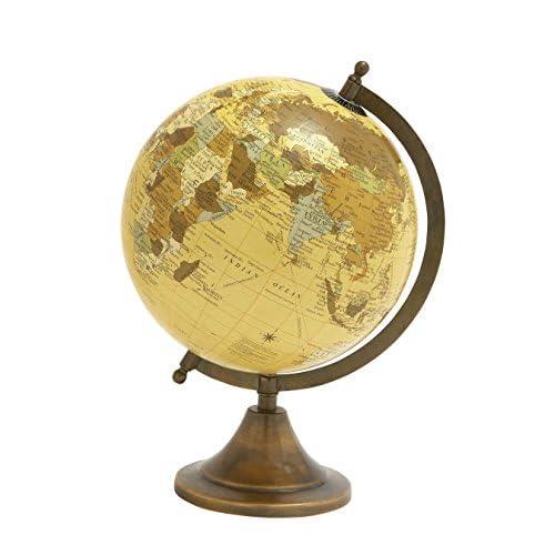 """Deco 79 24480 Aluminum PVC Globe, 9"""" x 12"""""""