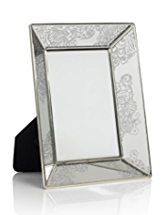 "Decorative Lace Glitter Photo Frame 10 x 15cm (4 x 6"")"
