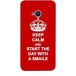 Skin4gadgets Keep Calm and Start The Day with a Smile No.1 - Red Phone Skin for HTC ONE M7