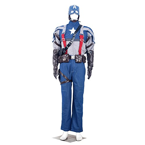 Cosplay Costume Captain America: The Winter Soldier Retro Anime