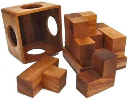 Soma Cube Brain Teaser Wooden Puzzle