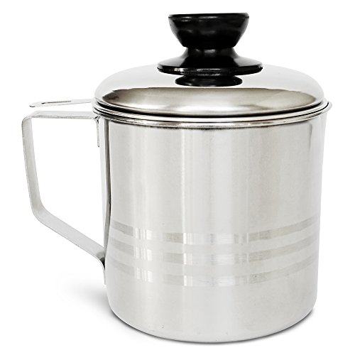 Top best bacon grease container with strainer for sale