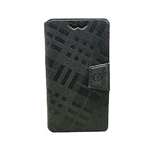 Jo Jo Krish Series Leather Pouch Flip Case With Silicon Holder ForLenovo ZUK Z2 ProBlack