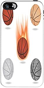 Snoogg Basketball Designer Protective Back Case Cover Forapple Iphone 5 / 5S
