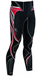CW-X Conditioning Wear Men's Revolution Running Tights, Black/Red
