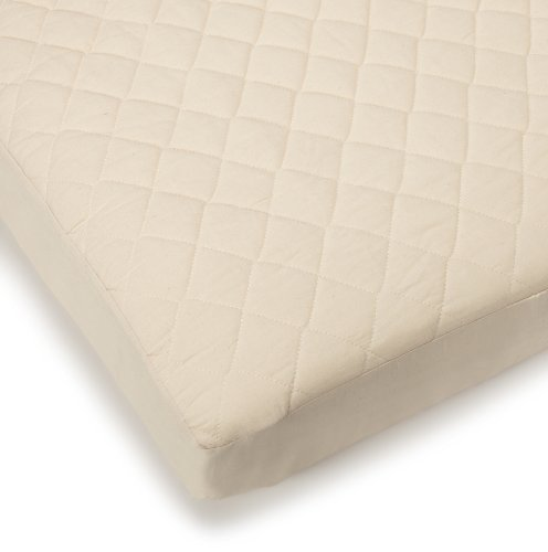 Bargoose Natural Cotton Top Fitted Crib Pad