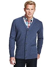 XXXL Blue Harbour Extrafine Pure Lambswool V-Neck Cardigan
