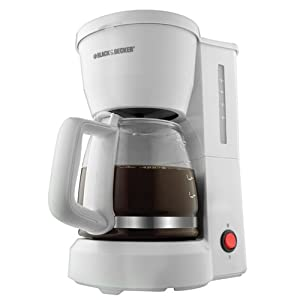 Amazon.com: Black & Decker DCM600W 5-Cup Drip Coffeemaker with Glass Carafe, White: Coffee Maker ...