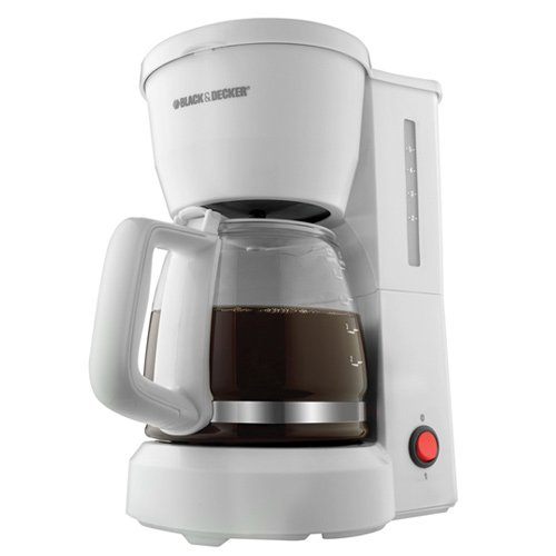 Black & Decker DCM600W 5-Cup Drip Coffeemaker with Glass Carafe, White