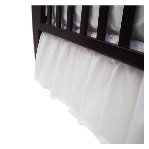 American Baby Company 100% Cotton Percale Crib Dust Ruffle, White