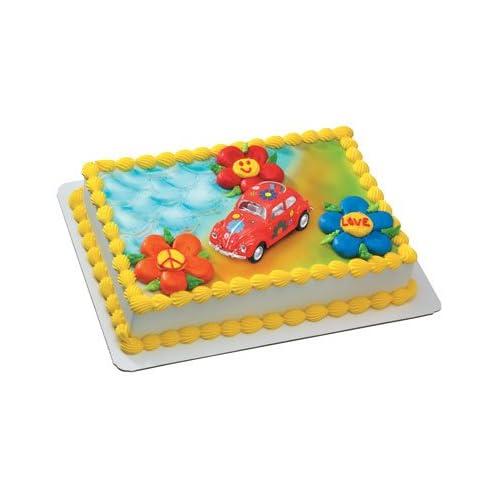 Amazon.com: flower power vw bug retro cake topper