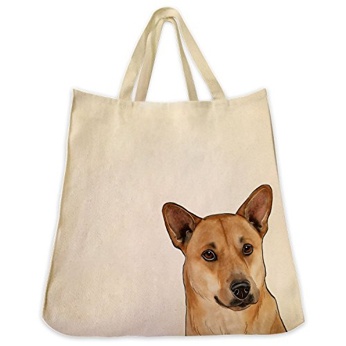 American Dingo Extra Large Eco Friendly Reusable Cotton Twill Grocery Shopping Handbag And Tote Bag