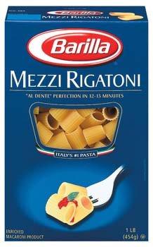 Barilla Mezzi Rigatoni Pasta 16 oz