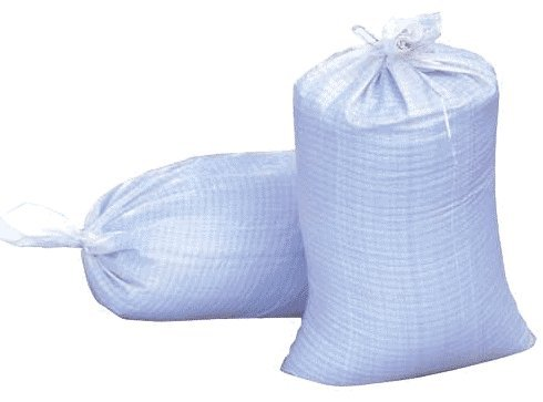 Woven Polypropylene Sand Bags With Ties & UV Protection