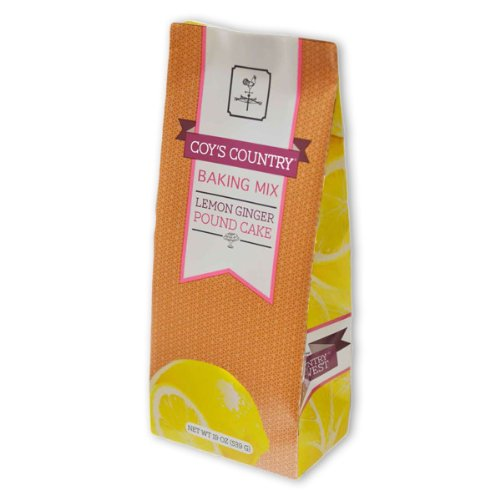 Lemon Ginger Pound Cake Mix - Gourmet Baking Mix, 19 oz Pouch - by Coy's Country NW (Pack of 4)