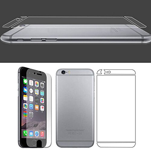 Willtoo(Tm) Front+Back Clear Film Lcd Screen Protection For Iphone 6 Plus 5.5 Inch