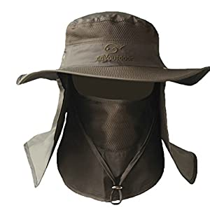"Ddyoutdoorâ""¢ 07-281 Fashion Summer Outdoor Sun Protection Fishing Cap Neck Face Flap Hat Wide Brim"