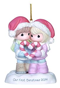 Precious Moments Company Dated 2014 Couple Ornament