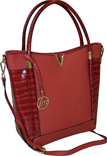 Fashion Women's High-end Tote Handbag/ Tablet-Ipad Shoulder Bag (Red ) (Miel Hand Bag compare prices)