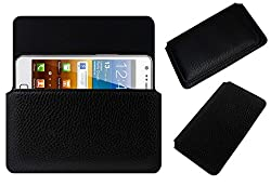 Acm Horizontal Leather Case For Samsung Galaxy S2 I9100 Mobile Cover Carry Pouch Holder Black