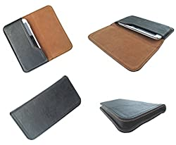 nKarta (TM) High Quality PU Side Leather Pouch Cover Case for Obi Worldphone SF1 OG Black Brown Pouch