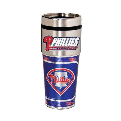 Philadelphia Phillies 16oz. Stainless Steel Travel Tumbler/Mug