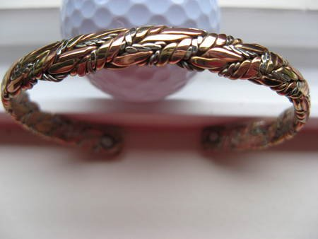 Ladies 7 Inch Magnetic Copper Cuff Bracelet #756M