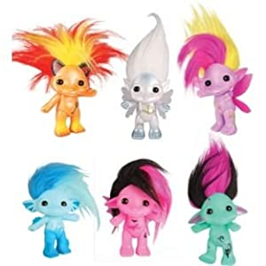 Colourful creatures with wacky hair!Large Figure Assortment.