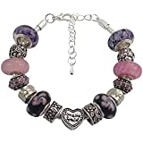 Handmade Beautiful Pink and Purple ' Someone Special ' Bracelet with Gift Box by Libby's Market Place