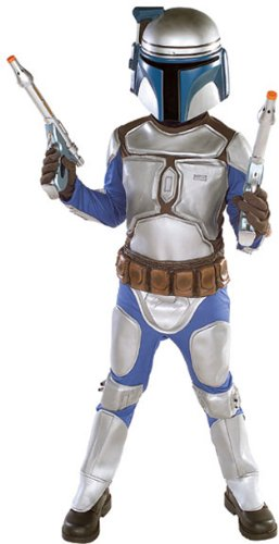 Kid's Deluxe Star Wars Jango Fett Costume (Size:Large 12-14)