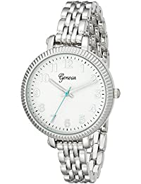 Geneva Women's 2439B-GEN Analog Display Analog Quartz Silver Watch