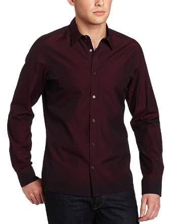 Ben Sherman Men's Plectrum Long Sleeve Tonic Poplin Shirt,Port Royale,X-Small