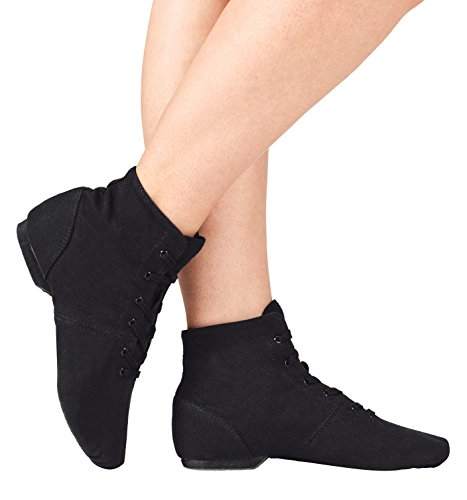 """Adult """"Broadway Jazz"""" Over-the-Ankle Canvas Jazz Boot,"""