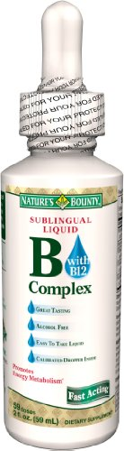 Nature's Bounty Vitamin B Complex Sublingual Liquid, 2 Ounce (Pack of 4)