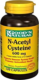 N-Acetyl Cysteine 600 mg - 120 caps,(Good\'n Natural)