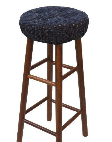 Klear Vu Gripper Twinlakes Barstool Cover, Navy (Bar Stool Covers Round Cushion compare prices)