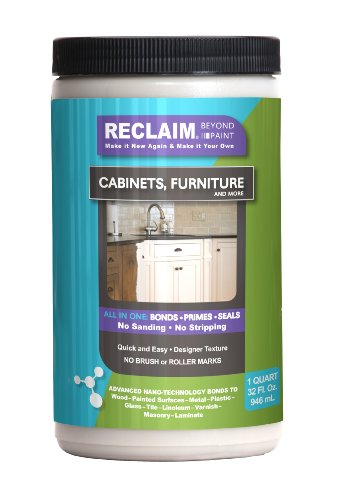 Reclaim Paint -Quart (Color) Licorice - Cabinet Or Furniture Paint /Now You Can Reclaim Almost Any Surface With This Combination Primer/Finish/Sealer Formula That Cures To A Durable, Washable Surface In Just One Or Two Coats