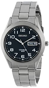 Seiko Men's SGG711 Quartz Titanium Case and Bracelet Watch by Seiko