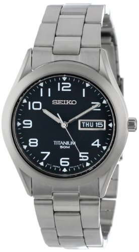 Seiko Men's SGG711 Black Dial Titanium Watch