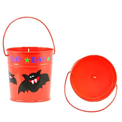 Halloween Party Decorations - Bat Bucket Candle by Halloween Direct